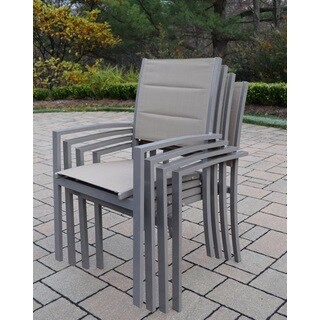 Sydney Padded Sling Stackable Chairs (Set of 4)