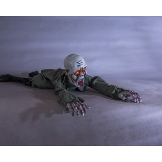 Crawling Zombie Motion Sensor Halloween Decoration