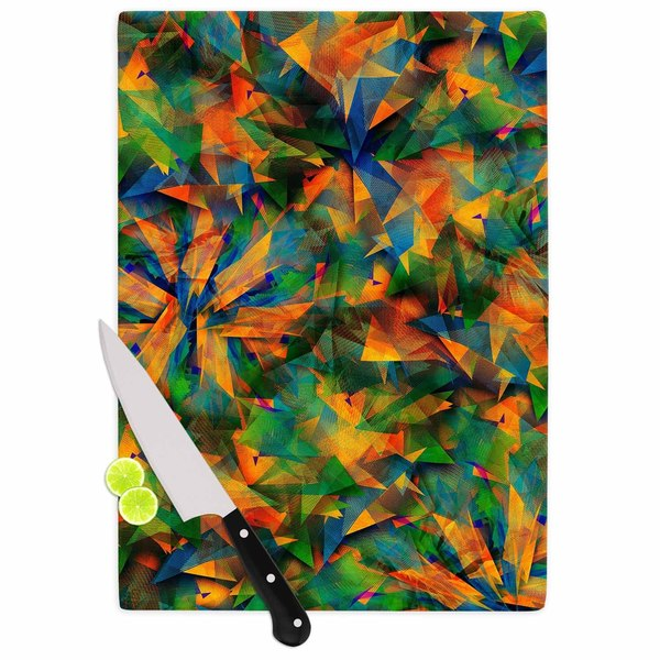 Kess InHouse Danny Ivan 'No Way Out' Green Abstract Cutting Board