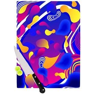 Kess InHouse Danny Ivan 'Bubbles' Blue and Purple Cutting Board