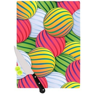 Kess InHouse Danny Ivan 'Melons' Pink Green Glass Cutting Board