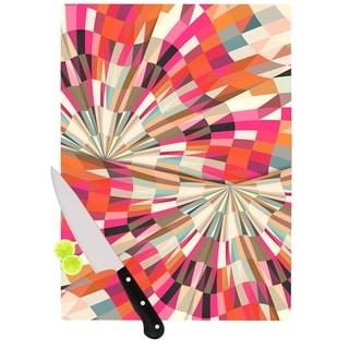 Kess InHouse Danny Ivan 'Convoke' Multicolor Glass Geometric Cutting Board