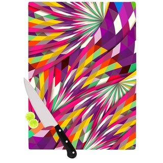 Kess InHouse Danny Ivan Sweet Multicolor Glass Geometric Cutting Board