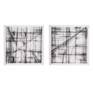 Intersect Acrylic Floating Wall Art - Ast 2