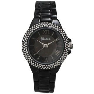Link to Olivia Pratt Metal Alloy Rhinestone Women's Bezel Basket Link Bracelet and Watch Similar Items in Women's Watches