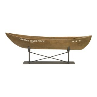 Vintage River Canoe on Metal Stand