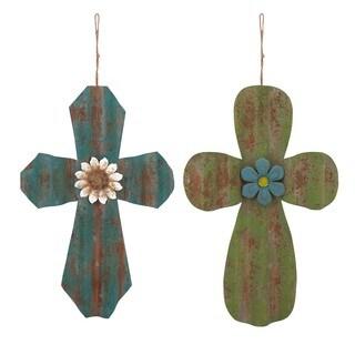 Mindy Corrugated Crosses - Ast 2