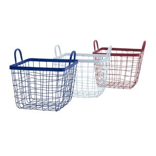 Americana Wire Baskets - Ast 3