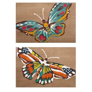 Nerina Embroidered Butterfly Wall Décor - Ast 2