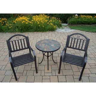 Hometown 3 Pc Stone Bistro Set with 2 Chairs and 26-inch Table