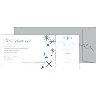 Snowflake Printable Paper Invitation Kit (Pack of 10)