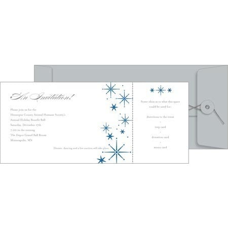 picture about Printable Invitation Kit titled Snowflake Printable Paper Invitation Package (Pack of 10)