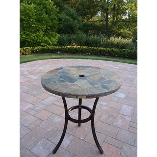 Oakland Living Corporation Hometown Real Stone 26-inch Bistro Table
