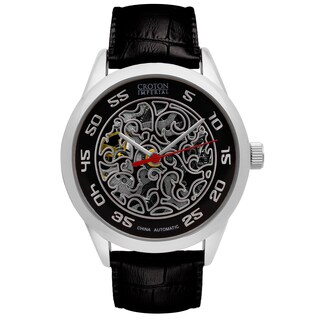 Croton Mens CI331095SSBK Stainless Silvertone Imperial China Automatic Strap Watch