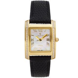 Croton Ladies CN207057YLMP Black Diamond Case Watch