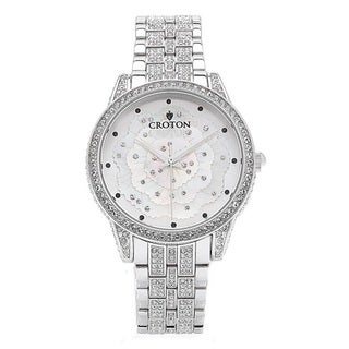 Croton Ladies CN207557RHMP Stainless Steel Silvertone with crystals Watch