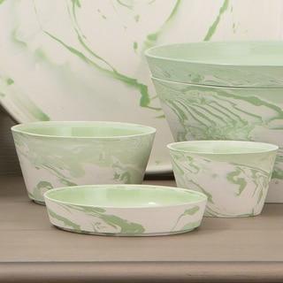 Global Views Richmond Green Porcelain 3-piece Serving Set