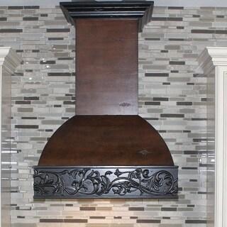 ZLINE 36 in. 1200 CFM Designer Series Wooden Wall Mount Range Hood (393AH-36)