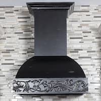 ZLINE 30 in. Wooden Wall Mount Range Hood in Antigua - Includes 900 CFM Motor