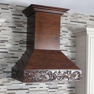 ZLINE 36 in. 1200 CFM Designer Series Wooden Wall Mount Range Hood (373WH-36)