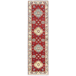 eCarpetGallery Royal Kazak Red Wool Hand-knotted Area Rug (2'9 x 10')