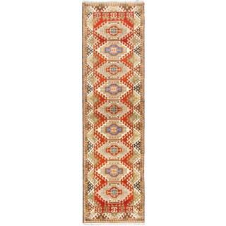 eCarpetGallery Royal Kazak Brown Wool Hand-knotted Rug (2'9 x 10')