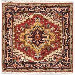 eCarpetGallery Serapi Heritage Brown Wool Hand-knotted Rug (3'1 x 3')