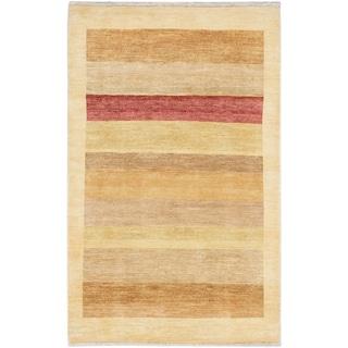 eCarpetGallery Peshawar Ziegler Blue Hand-knotted Wool/Cotton Rug (4' x 6'5)