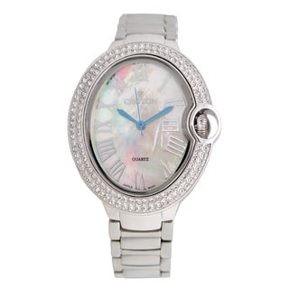 Croton Ladies CN207566RHMP Stainless Silvertone Quartz Watch