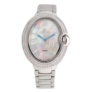 Croton Ladies CN207566RHMP Stainless Silvertone Quartz Watch