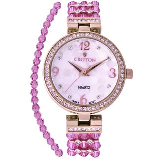 Croton Ladies CN207563RGPP Swarovski Bead Purple Watch