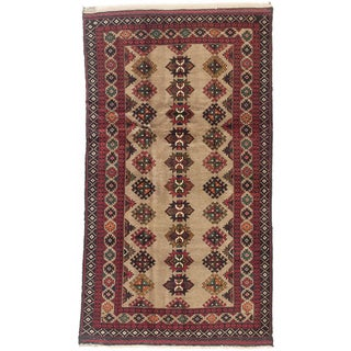 eCarpetGallery Hand-knotted Rizbaft Brown/Red Wool Rug (3'5 x 6'3)