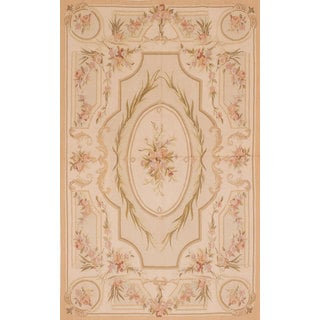 eCarpetGallery French Tapestry Sumak Dark Ivory Wool/Cotton Area Rug (5'0 x 8'1)