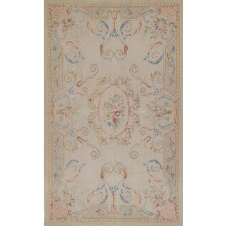 eCarpetGallery Hand-knotted French Tapestry Grey Wool Sumak rug (4'11 x 7'11)
