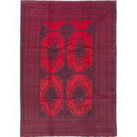 eCarpetGallery Finest Rizbaft Blue/Red Wool Hand-knotted Rug (8' x 11'7)