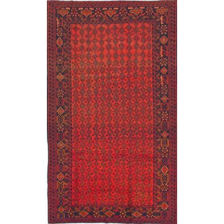 ecarpetgallery Hand-Knotted Royal Baluch Brown Wool Rug (7'5 x 12'11)