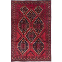 eCarpetGallery Finest Rizbaft Red Wool Hand-knotted Rug (6'11 x 10'7)