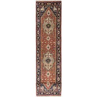 ecarpetgallery Hand-Knotted Serapi Heritage Brown  Wool Rug (2'6 x 16'0)