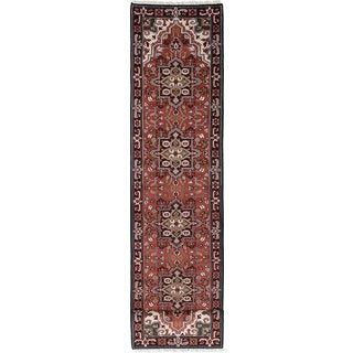 eCarpetGallery Royal Heriz Red Wool Hand-knotted Area Rug (2'7 x 16'0)