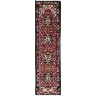 eCarpetGallery Royal Heriz Red Wool Hand-knotted Rug (2'6 x 15'8)