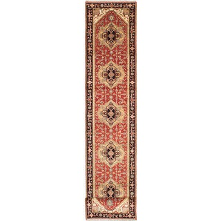 eCarpetGallery Brown Wool/Cotton Hand-knotted Serapi Heritage Rug (2'8 x 14'0)