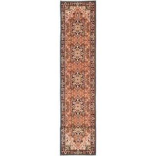 eCarpetGallery Heriz Brown Wool Hand-knotted Rug (2'7 x 16'0)