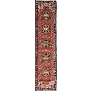 eCarpetGallery Royal Heriz Brown Wool Hand-knotted Rug (2'9 x 18'10)