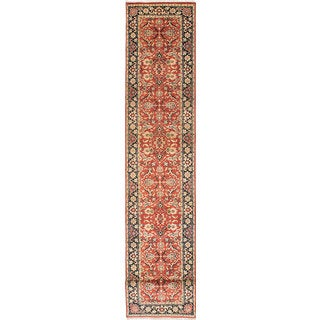 ecarpetgallery Hand-Knotted Serapi Heritage Brown Wool Rug (2'7 x 19'7)