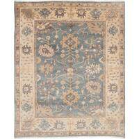 eCarpetGallery Royal Ushak Blue Wool Hand-knotted Area Rug (8'1 x 9'9)