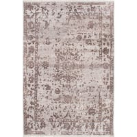 eCarpetGallery Grey Viscose from Bamboo/Cotton Hand-knotted Elixir Rug (6'0 x 9'0)