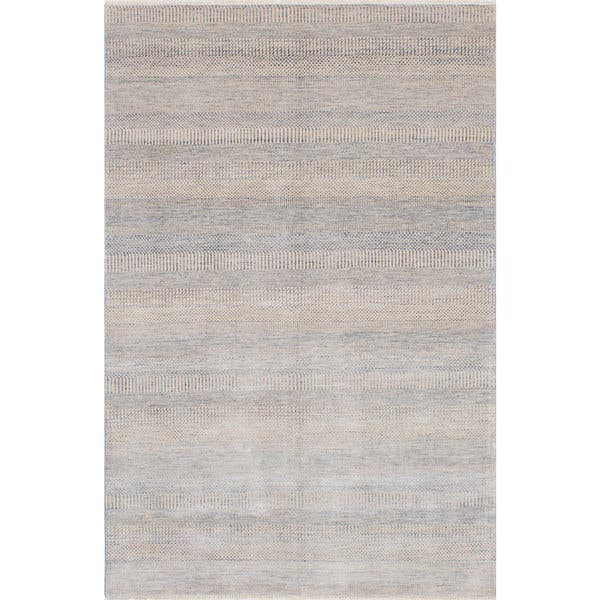 shop hand knotted silk shadow cream slate blue rug 5 11 x 9 1 on sale overstock 13140946 overstock com