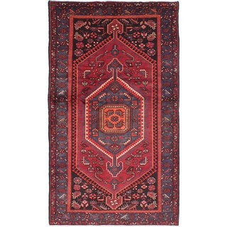ecarpetgallery Hand-Knotted Zanjan Red Wool Rug (4'7 x 7'10)