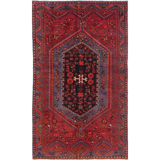 ecarpetgallery Hand-Knotted Zanjan Red Wool Rug (4'10 x 7'11)