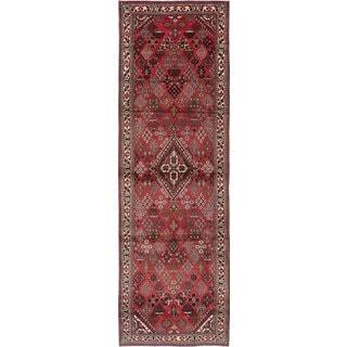 ecarpetgallery Hand-Knotted Joshagan Red Wool Rug (3'8 x 11'8)